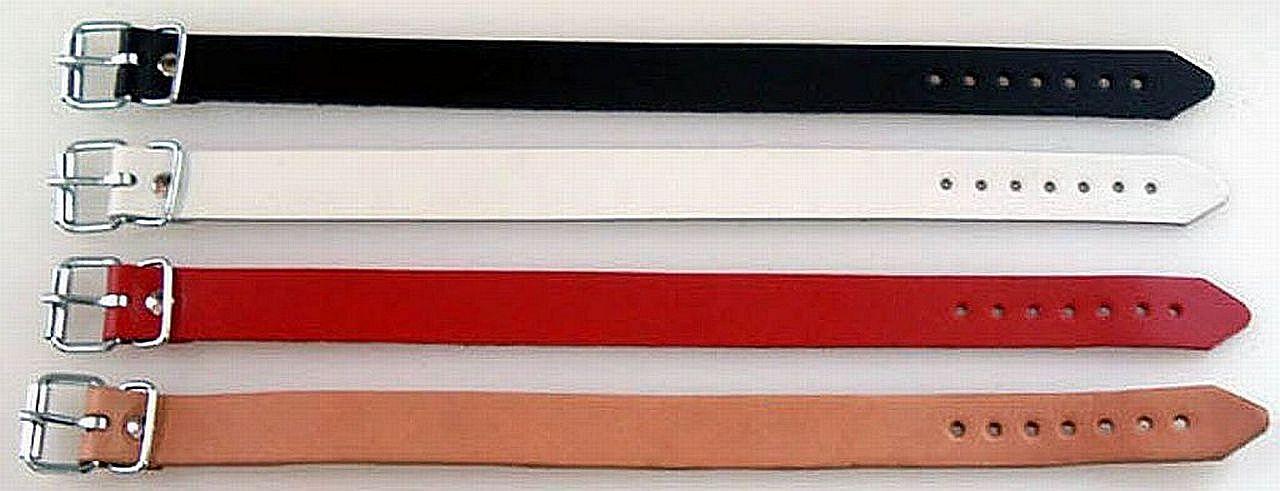 10 Natur Leder-Riemen mit Schnalle 18,0 x 1,4 cm Befestigungsriemen Lederriemen