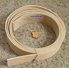 Lederriemen Gürtelleder Lederstreifen Natur ca. 200,0 cm x 3,0 cm breit x ca. 3,5 mm
