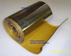 universelles Walzblei 100 cm x 40,0 cm x 1,0 mm stark Bleifolien einseitig selbstklebend mit Schutzfolie