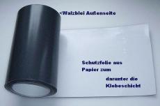 universelle Walzbleitapete - Bleifolien einseitig selbstklebend mit Schutzfolie 100,0 cm x 200,0 cm x 1,0 mm stark