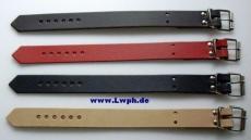Lederriemen Fixierungsriemen Schnallenriemen 2,5 cm x 30,0 cm in 6 Farben von Lwph