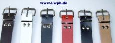 Lederriemen Befestigungs und Fixierungsriemen 3,0 cm breit x 35,0 cm lang in diversen Farben