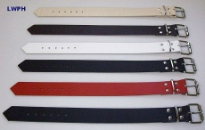 Lederriemen, Schnallenriemen, Fixierungsriemen 5,0 cm breit x 60,0 cm lang in verschiedenen Farben für universellen Einsatz