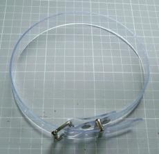 PVC transparente Befestigungs- und Fixierungs-Riemen 1,1 cm breit, abwaschbar, pflegeleicht, strapazierfähig