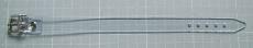 PVC transparente Befestigungs- und Fixierungs-Riemen 1,5 cm breit, abwaschbar, pflegeleicht, strapazierfähig