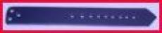 Leder-Bauteile, Formteile, Stanzteile, Bastelteile, für Schliessriemen gelocht 2,0 cm x 16,0 cm in 6 Farben