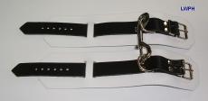 1 Paar Handfesseln Fesselvariationen in verschiedenen Ausführungen Echt Leder 26,5 x 6,5 cm mit D-Ring und Doppelkarabiner