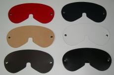 große breite Augenmasken Entspannungsmasken Ledermasken in 6 Farben von LWPH