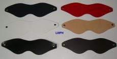Augenmasken Entspannungsmasken Ledermasken mit neuen Zuschnitt und Design in 6 Farben schmale Form