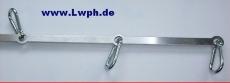5 Loch Designer Edelstahl Spreiz-Stange aus beidseitig geschliffenen und polierten Edelstahl von Lwph