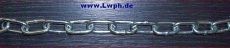 Rundstahlketten 1 Meter lang verzinkt Ketten-Meterware von 1,0 bis 30,0 Meter am Stück