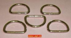 D-Ring Halbrundringe vernickelt 25,0 mm x 3,4 mm verschweißt zum Basteln und Werken vom Lwph