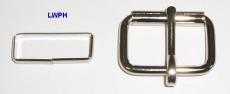 Rollschnallen mit Stahlschlaufe vernickelt und verschweißt 3,0 cm Durchlass von Lwph