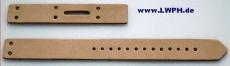 1 Lederschließriemen 27,0 cm und 1 Schnallen-Bauteil gelocht 2,5 cm zum Einbau von Schnallen in vielen Farben Bau- und Bastel-Teile