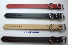 Lederriemen Befestigung- und Fixierungs Riemen mit D-Ring in verschiedenen Farben 2,5 x 35,0 cm lang von Lwph