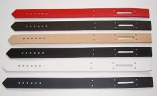 Schließriemen Lederriemen 35,0 x 2,5 cm gelocht mit Langloch in vielen Farben Leder- Bau- und Bastelteile von Lwph