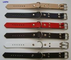 1 Paar Fussfesseln mit D-Ringen in verschiedenen Farben Echt Leder 2,5 x 35,0 cm, klein, fein, passend, einfach schnell und praktisch