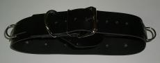 BDSM Taillengurt Lederriemen mit 6 D-Ringen, Klemmschutz 4,0 cm breit und zusätzlichen O-Ring