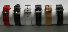 6 Lederarmbänder 2,0 cm glatt im Spar-Pack modische Qualität aus Echtem Leder in 6 Farben