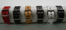 6 Lederarmbänder 2,0 cm mittig gelocht im Spar-Pack modische Qualität aus Echtem Leder in 6 Farben