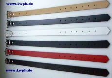 Lederriemen Fixierungsriemen Schnallenriemen 2,5 cm x 70,0 cm in 6 Farben von Lwph