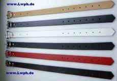 Lederriemen Fixierungsriemen Schnallenriemen 2,5 cm x 80,0 cm in 6 Farben von Lwph