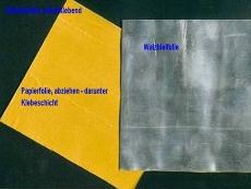 Walzblei, Bleifolie Bleiplatten einseitig selbstklebend mit Schutzfolie 22,0 cm x 10,0 cm groß 1,0 mm stark