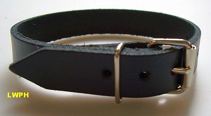 10 Lederriemen Natur mit Rollschnalle 2,0 x 24,0 cm ohne mittige Lochungen