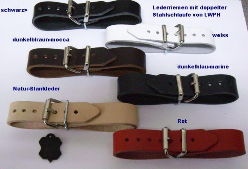 4 schwarz Lederriemen Rollschnalle 2,5 x 30,0 cm Befestigungsriemen Puppenwagen