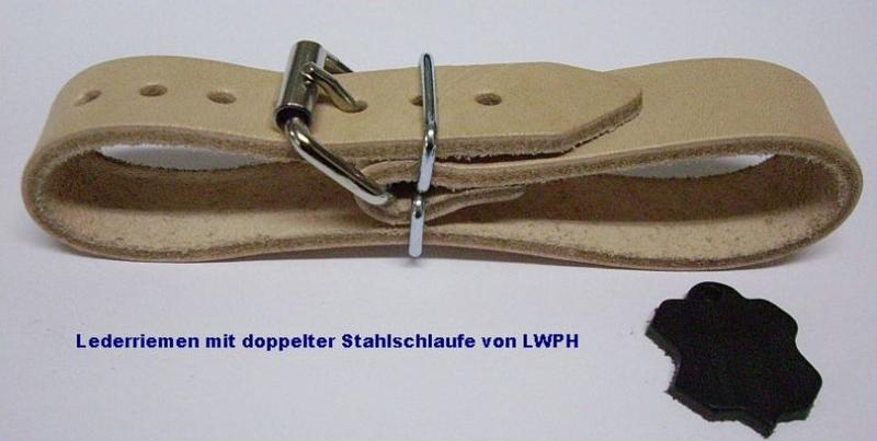 4 starke Leder-Riemen dunkelbraun Rollschnalle 3,0 x 30,0 cm Lederriemen