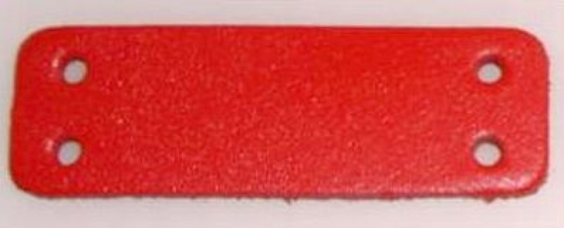 50 weisse Leder-Bastelteile gerundet 3 Löchern 2,5 x 6,0 cm Formteile Stanzteile