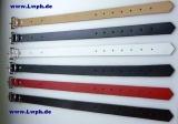 Lederriemen Fixierungsriemen Schnallenriemen Halteriemen 2,5 cm x 40,0 cm in 6 Farben von Lwph