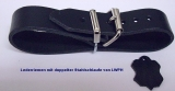 Lederriemen 1,4 cm breit mit doppelter Metallschlaufe in 6 Farben und div. Längen für Nostalgie-Kinderwagen u.v.m.