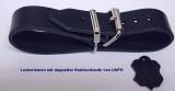 Lederriemen 3,5 cm breit mit doppelter Metallschlaufe in 6 Farben und div. Längen für Nostalgie-Kinderwagen u.v.m