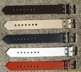 Lederriemen Schnallenriemen, Fixierungsriemen 5,0 cm breit x 25,0 cm lang in verschiedenen Farben für universellen Einsatz