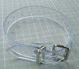 PVC transparente Befestigungs- und Fixierungs-Riemen 2.5 cm breit, abwaschbar, pflegeleicht, strapazierfähig
