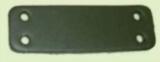 Echte Leder Bauteile, Formteile, Stanzteile, Bastelteile, mit 4 Löchern 2,0 cm x 6,0 cm in 6 Farben