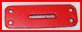 Leder-Bauteile, Formteile, Stanzteile, Bastelteile, für Schnalleneinbau gelocht mit Langloch 7,0 x 2,0 in 6 Farben