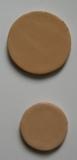 Leder-Conchos, runde Lederteile, besondere Bastelteile in 6 Farben mit Durchmesser 3,0 cm und 4,0 cm