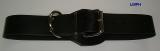 BDSM Bondageriemen, Lederriemen, mit Klemmschutz, D-Ring und zweidrittel-Lochung 4,0 cm breit bis 140,0 cm lang