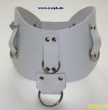 Leder-Halskorsette anatomisch geformt 8,0 cm breit verschweißten D-Ringen, O-Ring doppelten Rollschnallen-Verschluß in Farbkombinationen