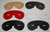 große breite Augenmasken Entspannungsmasken Ledermasken mit Sehschlitz in 6 Farben von LWPH