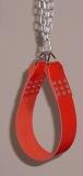 1 Paar Beinschlaufen Lederschlaufen, mit Stahl-Ketten und jeweils 2 Karabinerhaken in 6 Farben von LWPH