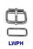 Rollschnallen mit Stahlschlaufe vernickelt und verschweißt 1,4 cm Durchlass