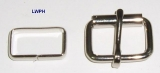 Rollschnallen mit Stahlschlaufe vernickelt und verschweißt 2,1 cm Durchlass von Lwph