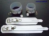 1 Paar Handfesseln und 1 Paar Fußfesseln aus Echtem Leder im Set von LWPH