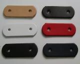 Leder-Formteil, Bastelteil, Stanzteil mit 2 Löchern gerundet in 6 Farben 2,5 cm x 6,5 cm Basteln mit LWPH