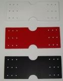 Leder-Halter, D-Ring-Halterung mit 18 Lochungen zum Befestigen von D-Ringen und Ringen von 5,0 cm Durchlass in 6 Farben