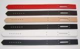 Schließriemen Lederriemen 42,0 x 2,5 cm gelocht mit Langloch in vielen Farben Leder- Bau- und Bastelteile von Lwph