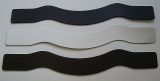 Leder-Haslsband-Bastelteil breite anatomische Rohlinge zum selbst-basteln in vielen Farben 6,0 cm breit x 47,0 cm
